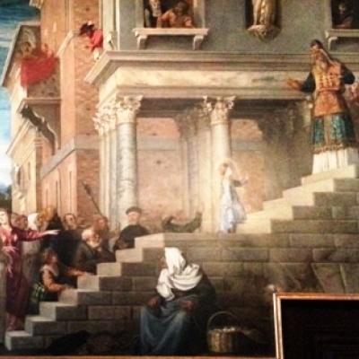 Tizian, Tempelgang der Gottesmutter, Akademie, Venedig