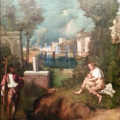 Giorgione, das Gewitter, Akademie, Venedig