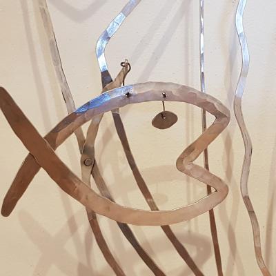 Calder, Fisch am Bettgestell für Peggy Guggenheim, 1946