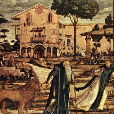 Hieronimus mit dem Löwen