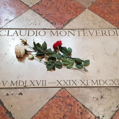 Grabstein des Komponisten Claudio Monteverdi