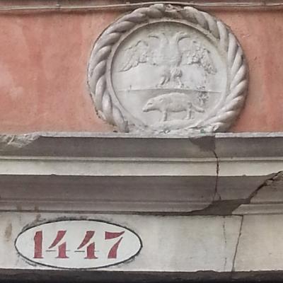 Hausnummer 1447 in einem Stadtbezirk Venedigs