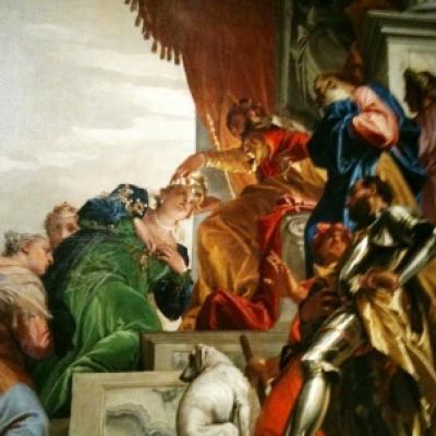 Esther vor dem König knieend, Paolo Veronese in San Sebastiano