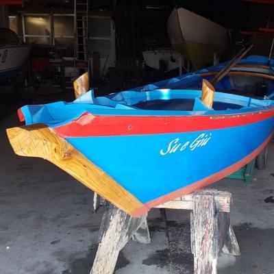 historisches Lagunenboot Sampierotta