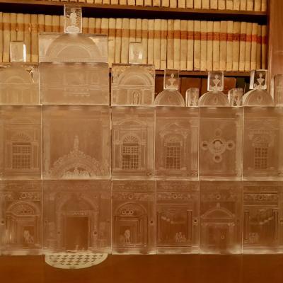 Fassade der Scuola Grande di San Marco aus Glas