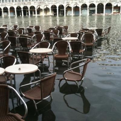 Piazza San Marco sotto acqua nel 2019