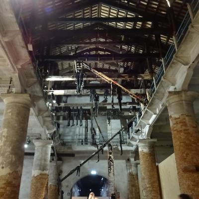 Deckenkonstruktion in der Seildreherei