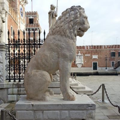 griechischer Löwe am Landeingang