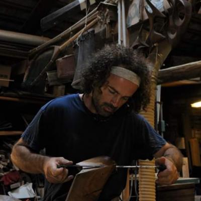 Forcolabauer Paolo Brandolisio bei der Arbeit