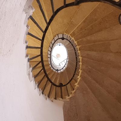 herrliche Innentreppe im Palast, viellelicht aus der Feder Palladios