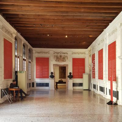 typischer rechteckiger Prachtraum im Piano Nobile, Portego genannt