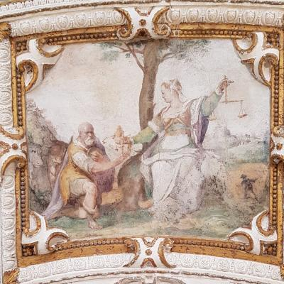 Palazzo Grimani, Gerechtigkeit mit Waage