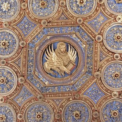 hölzerne Decke im Kapitelsaal der Scuola Grande di San Marco