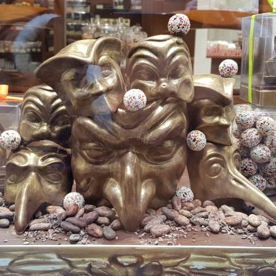 Masken in Schokolade