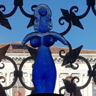 Picasso/Costantini, donna blu