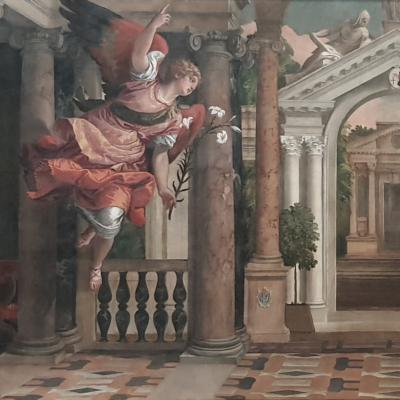 Paolo Veronese, Mariä Verkündigung - Gabriel