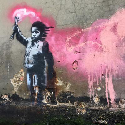 Bansky, Kind mit Fackel, 2017