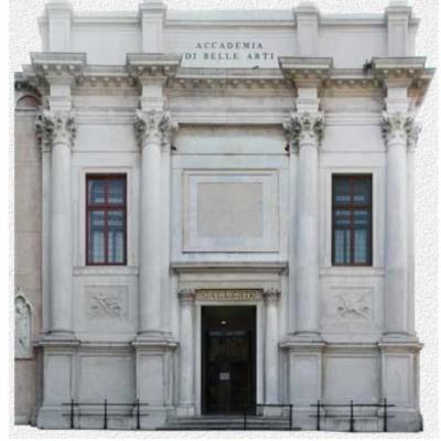 Fassade der Bruderschaft der Charitas von Giorgio Massari