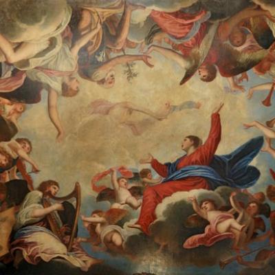 Padovanino, Himmelfahrt der Gottesmutter mit Engeln