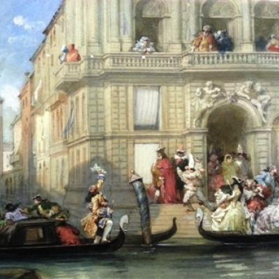palazzo veneziano in un dipinto d´epoca