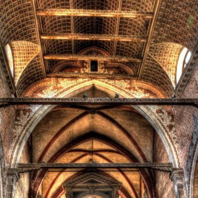 soffitto ligneo in Santo Stefano