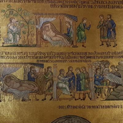 Mosaiken im Atrium der Markuskirche