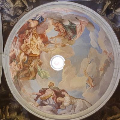 G.A.Fumiani, Rochus vor der Gottesmutter, Fresko