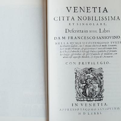 Francesco Sansovino, Venezia città nobilissima, 1581/1663