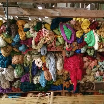 seta pura nel magazzino della tessitura Bevilacqua