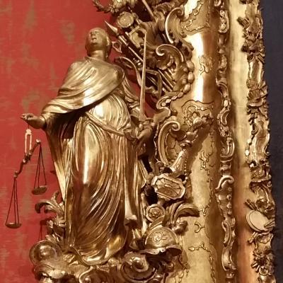 Gerechtigkeit, Bilderrahmen, P. Mocenigo