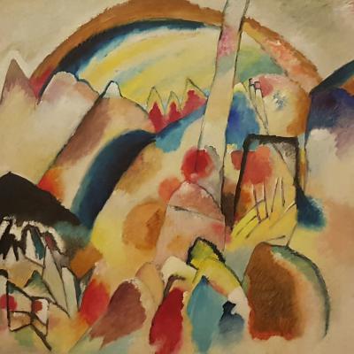 Kandinsky, Paesaggio con punto rosso